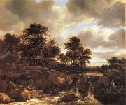 Jacob van Ruisdael Landscape with Waterfall oil painting artist