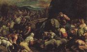 Jacopo Bassano The Israelites Drinkintg the Miraculous Water oil painting