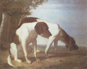Jacques-Laurent Agasse Foxhounds in a Landscape