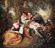 The Love Song, Jean-Antoine Watteau