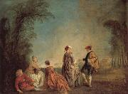 An Embarrassing Proposal, Jean-Antoine Watteau