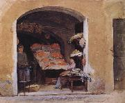 An Italian Produce Shop, John William Waterhouse