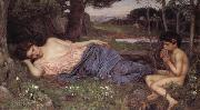 Listening to My Sweet Piping, John William Waterhouse