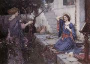 John William Waterhouse The Annunciation oil painting reproduction