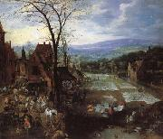 Joos de Momper A Flemish Market and Washing-Place oil painting
