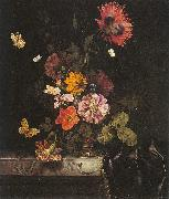 Flowers in a Gold Vase