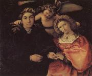 Portrait of Messer Marsilio and His Wife, Lorenzo Lotto