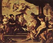 Luca Giordano Rubens Painting an Allegory of Peace oil painting