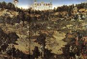 Lucas Cranach AHunt in Honor of Charles V at Torgau Castle oil painting artist