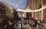 Manuel Cabral Y Aguado Bejarano Corpus Christi Procession in Sevill oil painting