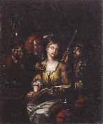 Matthys Naiveu The procuress oil painting on canvas