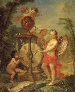 Natoire, Charles Joseph Cupid Sharpening His Arrow oil painting on canvas