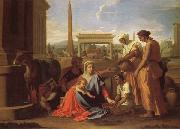 Nicolas Poussin Rest on the Flight into Egypt oil painting on canvas
