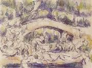 Bathers Beneath a Bridge, Paul Cezanne