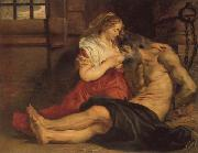 A Roman Woman's Love for Her Father, Peter Paul Rubens