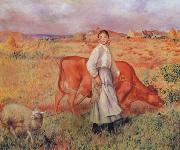 The Shepherdess the Cow and the Ewe, Pierre Renoir
