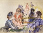 At the Moulin de la Galette, Pierre Renoir