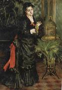 Woman with a Parrot(Henriette Darras)