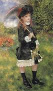 Girl with Parasol (Aline Nunes), Pierre Renoir