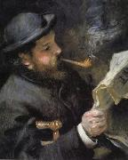Chaude Monet Reading, Pierre Renoir