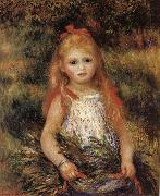 Girl with Flowers, Pierre Renoir