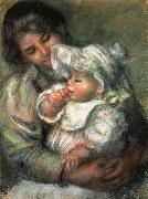 The Child with its Nurse, Pierre Renoir