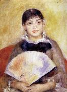 Girl with a Fan, Pierre Renoir