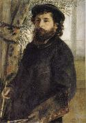 Claude Monet Painting, Pierre Renoir