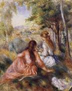 Pierre Renoir In the Meadow oil painting reproduction