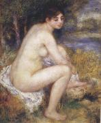 Female Nude in a Landscape, Pierre Renoir