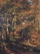 The Painter Jules Le Coeur walking his Dogs in the Forest of Fontainebleau, Pierre Renoir