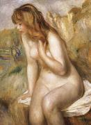 Bather Seated on a Rock, Pierre Renoir
