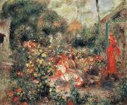Young Girls in a  Garden in Montmartre