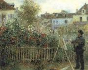 Pierre-Auguste Renoir Monet Painting in his Garden