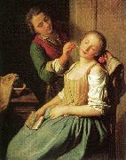 Pietro Antonio Rotari Sleeping Girl oil painting