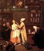 Pietro Longhi The Spice-vendor s shop oil painting