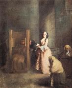Pietro Longhi The Confession oil painting