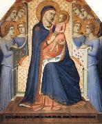 Pietro Lorenzetti Madonna and Child Enthroned with Eight Angels oil painting