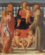 Pontormo Madonna and Child with SS.Jerome and Francis and Two Angels oil painting reproduction