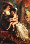 RUBENS, Pieter Pauwel Helena Fourment with her Son Francis