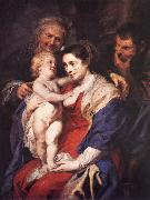 RUBENS, Pieter Pauwel The Holy Family with St Anne