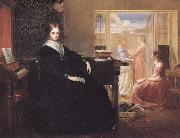 Richard Redgrave,RA The Governess:she Sees no Kind Domestic Visage Near oil painting on canvas