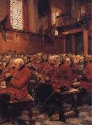 Sir Hubert von Herkomer,RA,RWS The Last Muster oil painting