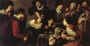 Theodoor Rombouts The Tooth-puller oil painting