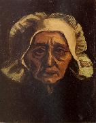 Head of an old Peasant Woman with White Cap (nn04), Vincent Van Gogh