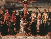 WOENSAM VON WORMS, Anton Christ on the Cross with Carthusian Saints oil painting reproduction