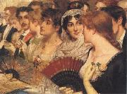 William Holyoake Inthe Front Row at the Opera oil painting