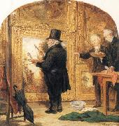 William Parrott J M W Turner at the Royal Academy,Varnishing Day oil painting