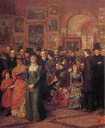William Powell Frith The Private View of the Royal Academy oil painting