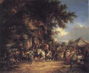 William Shayer The Village Festival oil painting